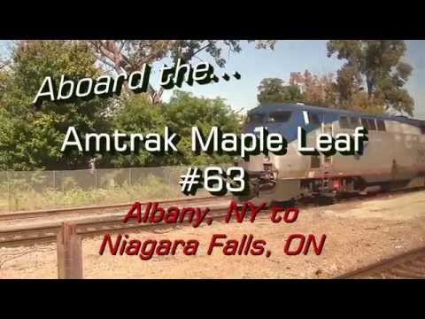 HD: Aboard The Amtrak Maple Leaf #63 - Albany, NY To Niagara Falls, ON - 09-17-14