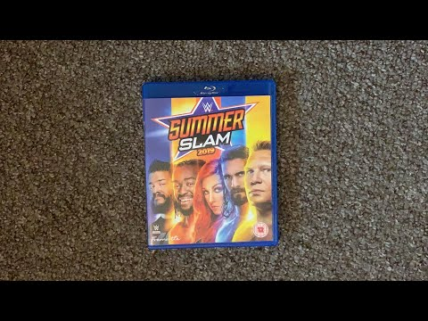 WWE SummerSlam 2019 UK Blu-ray Unboxing