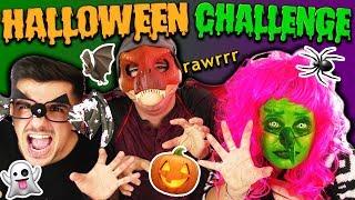 """Halloween Challenge 🎃 """"WER WÜRDE EHER?!"""" Eva vs Claudio vs Felix mit Kostümen"""