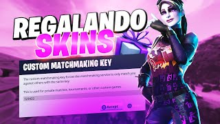 Gifting Skins come win Private Games #TeamDivinity #Partidasprivadas #FORTNITE #ENVIVO