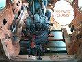 Montaje del motor sobre la cuna en el eje trasero   Español   España