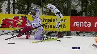 Hiihdon SM - katri Lylynperä kaatuu sprintissä 2.1.2020
