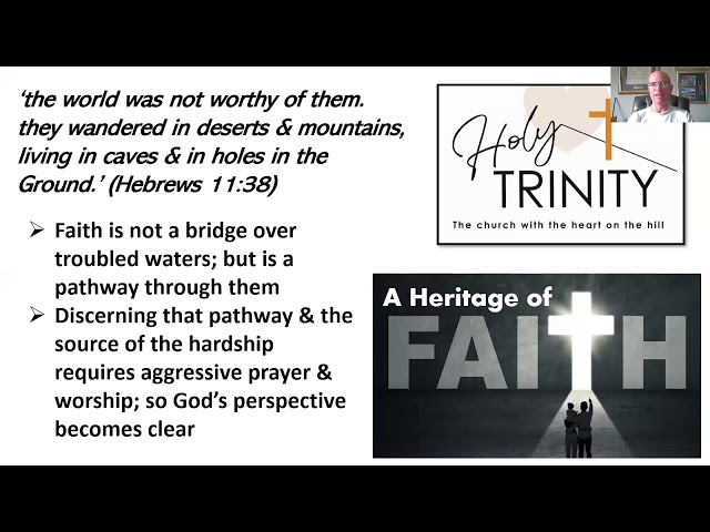 Lent Bible Study,  A Heritage of Faith, session 5
