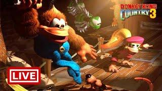 🔴 Ao vivo Donkey Kong Country 3 - Do início ao Fim  #Rumoaos1K