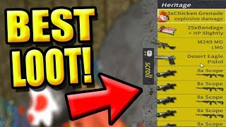 """BEST LOOT EVER! """"EASY WIN"""" (Rules of Survival: Battle Royale) TeamPH"""