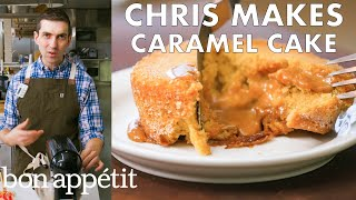 Download Chris Makes Molten Caramel Cake   From the Test Kitchen   Bon Appétit Mp3 and Videos