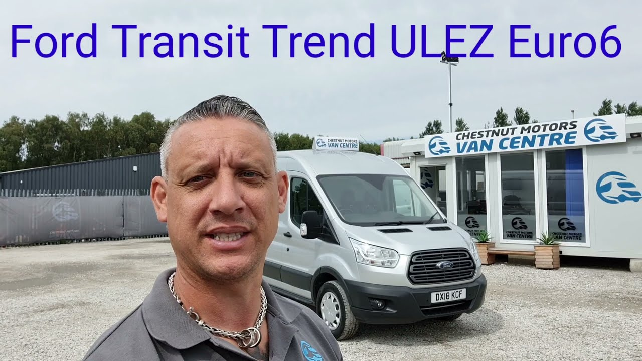 Ford Transit Trend 350 RWD ULEZ Compliant Euro6 Van For Sale In Silver Low Rate Finance & Delivery