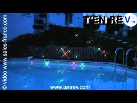 éclairage de piscine au laser décoration lumineuse maison et jardin
