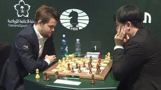 Бу Сянчжи вновь громит Карлсена! Чемпионат мира по рапиду