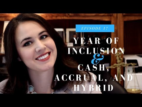 Year of Inclusion of Income | Individual Income Tax | Episode 17