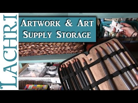 How I store my artwork and art supplies - Art Studio Tour - Lachri