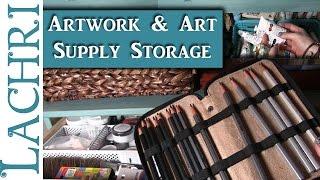 How I store my artwork and art supplies - Art Studio Tour - Lachri