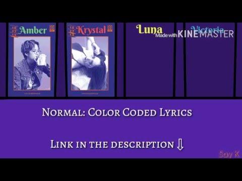 F(x) - 4 Walls [Karaoke ver.] Color Coded Lyrics [Kpop]