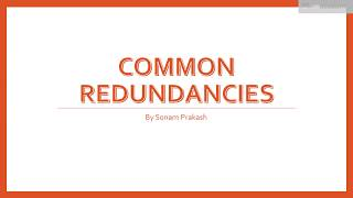 Common Redundancies - Common Mistakes in English Writing and Speaking