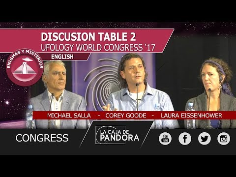 Corey Goode, Michael Salla, Laura Eissenhower - Discusion table  at THE UFOLOGY WORLD CONGRESS '17