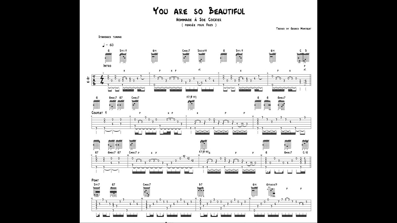 You are so beautiful capo fret 1 youtube you are so beautiful capo fret 1 hexwebz Gallery