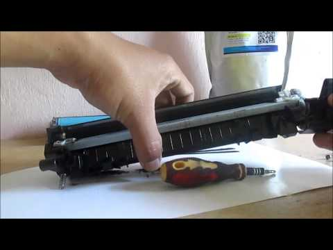 How to refill HP LaserjetPro P1102 Printer with CE651A cartridges