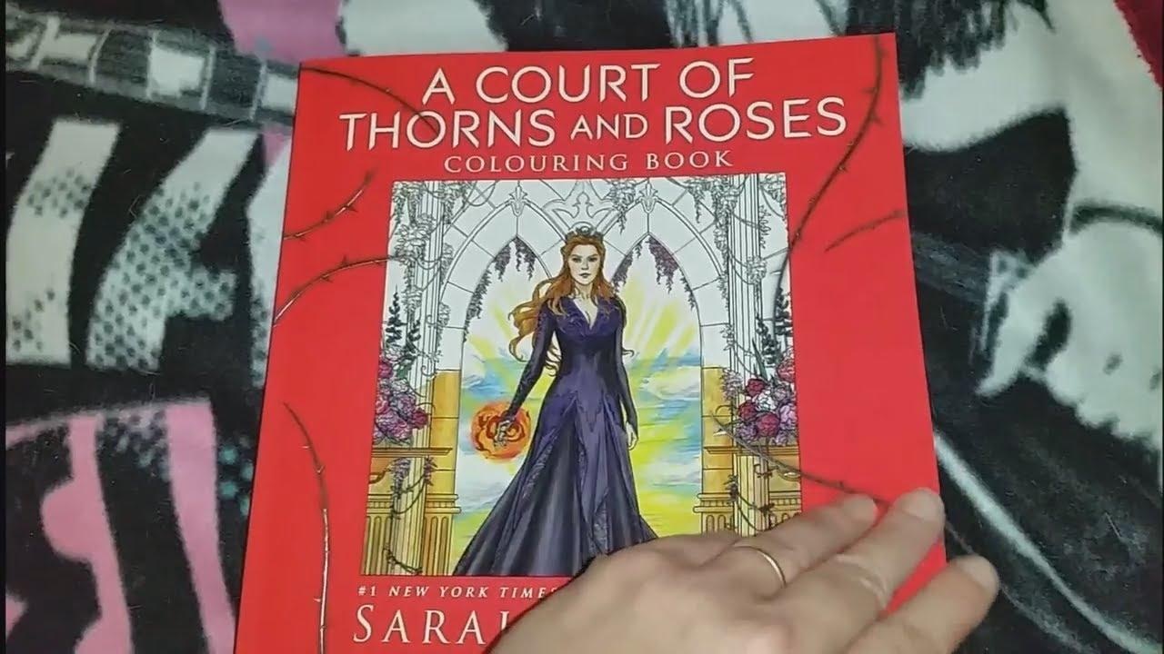 A Court of Thorns and Roses Coloring book Flip through