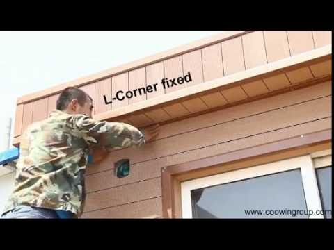COOWIN WPC outdoor  wall cladding(TH-10) installation