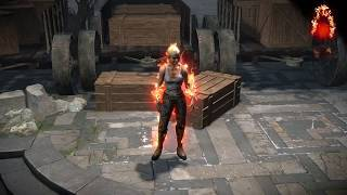 Path of Exile: Fire Character Effect