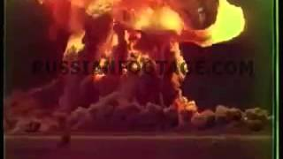 Nuclear test Tsar Bomba largest nuclear bomb ever tested, October 30, 1961