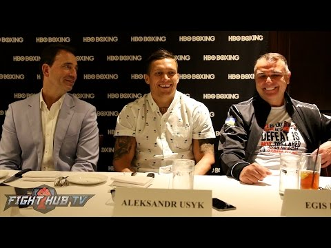 Oleksandr Usyk vs. Michael Hunter - The FULL Usyk Media Roundtable Table video