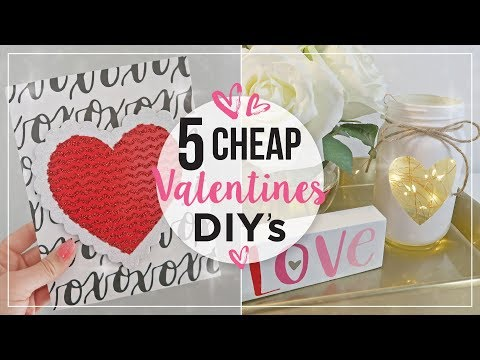 Valentines Day DIY Home Decor Ideas | Cheap Valentines Day Crafts | DIY Valentines Decorations