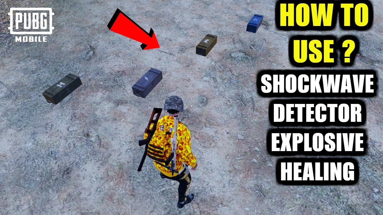 PUBG Mobile Zombie Mode New Update - How to USE ? Detector, Healing Wave, Explosive Ammo & Shock