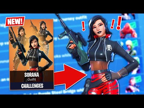 New CHAPTER 2 SORANA SECRET SKIN Challenges! (Fortnite Battle Royale)