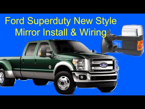 hqdefault ford superduty new style mirror install and wiring youtube  at panicattacktreatment.co