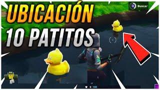Fortnite: UBICACIÓN rápida 10 PATITOS DE GOMA | FORTNITE DESAFÍOS SEMANA 3 temporada 4