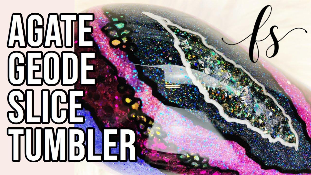 Agate Geode Slice Glitter Tumbler Tutorial