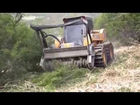 Denis Cimaf Skid Steer Forest Mulcher Daf 180 Funnycat Tv