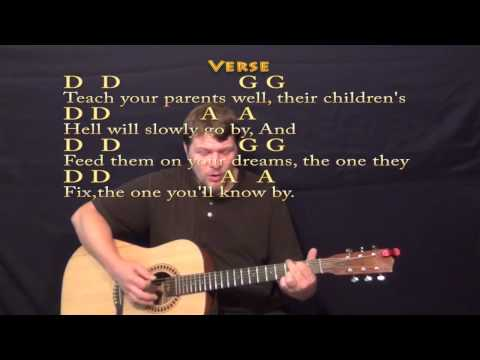 Teach Your Children (CSN&Y) Strum Guitar Cover Lesson with Lyrics/Chords