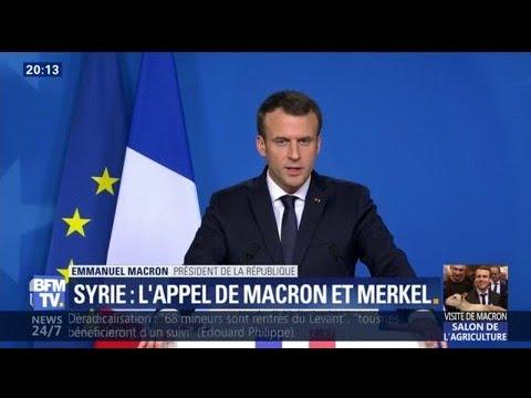 """Syrie: """"La France mettra toute la pression"""" à la Russie pour obtenir une trêve, prévient Macron"""
