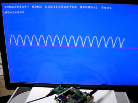 STM32F439 LCD-TFT Controller (LTDC) to HDMI Out Test (1024x768)