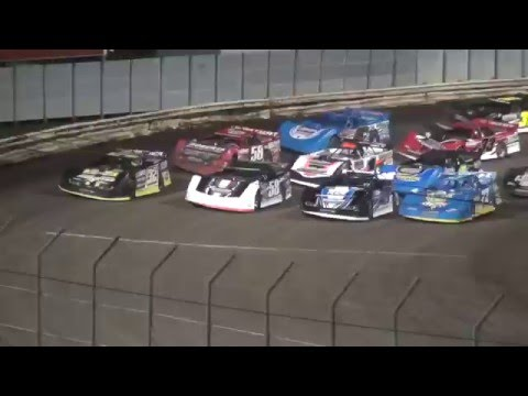 Lucas Oil MLRA Late Model feature Lee County Speedway 5/5/16
