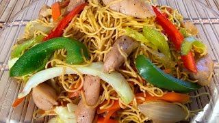 How To Make Chicken Chow Mein-Chinese Food Recipes-Stir frying