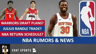NBA Rumors: Julius Randle Trade? Warriors Draft Plans? NBA News On Schedule & Replacement Players
