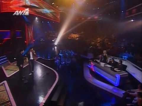 X Factor 2008 - Live show E02 - Nikolas Metaxas - theos an einai
