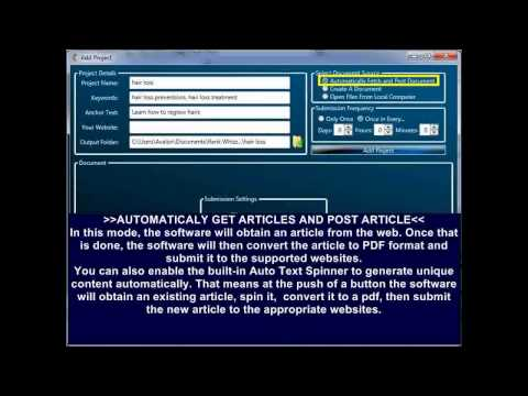 PDF Submitter the Powerful Document Marketing and Link Bulding Tool