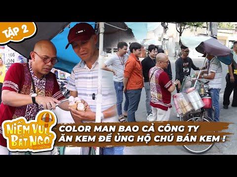 Niềm Vui Bất Ngờ   Tập 2: Color Man Bao Cả Công Ty Điền Quân ăn Kem ủng Hộ Anh Bán Kem Dạo