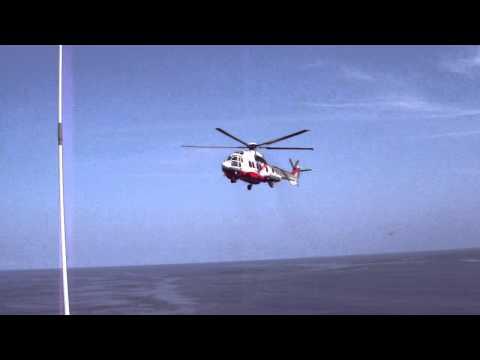Super Puma landing at FPSO Xikomba