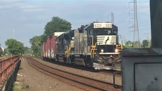RARE: NS RP-M4C 623 Leads Conrail MA-1 West in Bound Brook 8/9/19