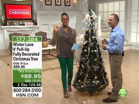 winter lane 6 pull up fully decorated christmas tree - Pull Up Christmas Tree