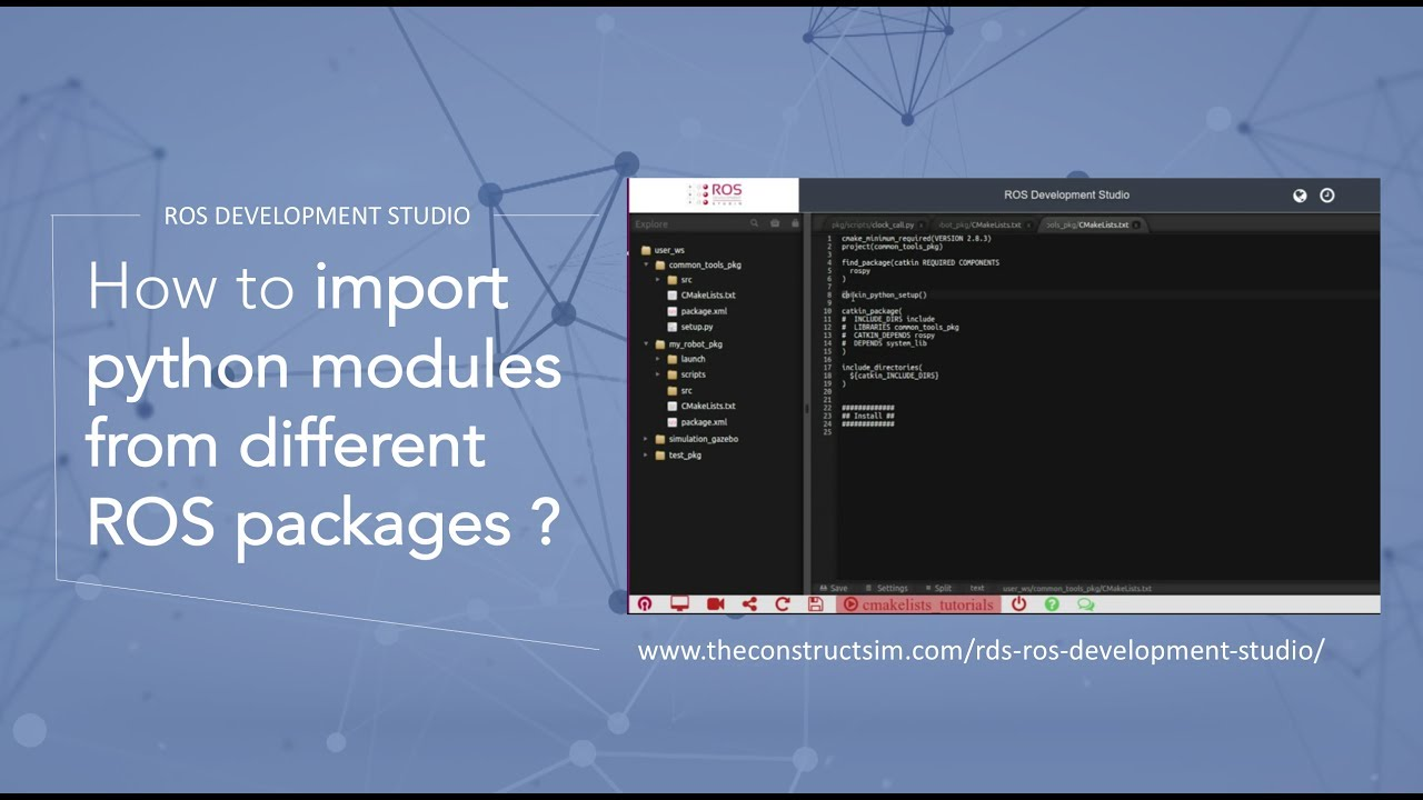 [ROS Q&A] 010 - How to import python modules from different ROS packages