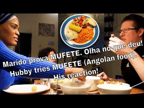 Marido prova MUFETE  Comida Angolana / Hubby tries Angolan African food/ como fazer mufete