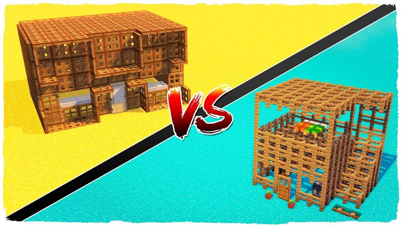 Casa de puertas vs casa de vallas minecraft youtube - Vallas para casas ...