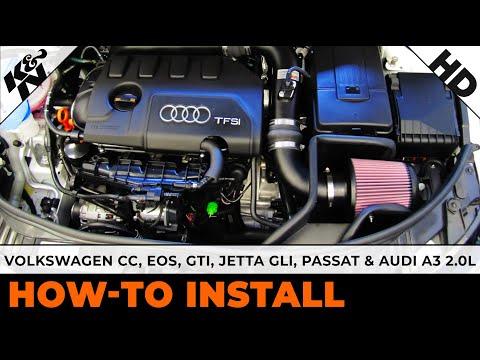 Volkswagen CC, EOS and GTI, Jetta GLI, Passat and Audi A3 2.0L Air Intake Installation