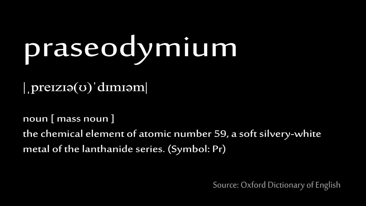 59 praseodymium how to pronounce chemical elements periodic table 59 praseodymium how to pronounce chemical elements periodic table urtaz Images